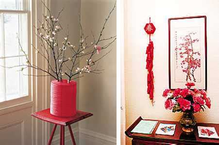 chinese new year home decoration chinese new year decorations flower arrangements and