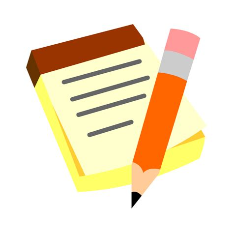 note clip paper clipart note taking pencil and in color paper