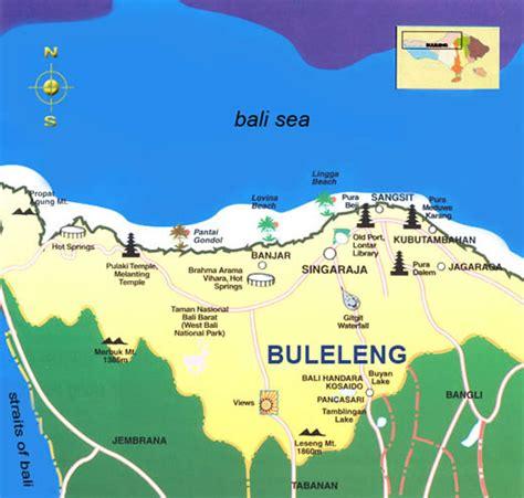 map singaraja bali buleleng regency of bali lovina dolphin