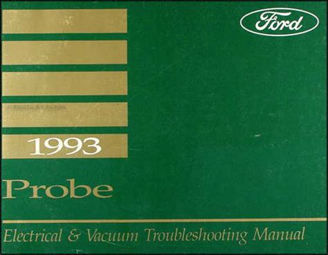 electric and cars manual 1993 ford probe free book repair manuals 1993 ford probe electrical and vacuum troubleshooting manual original