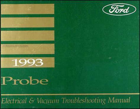 electric and cars manual 1993 ford probe free book repair manuals 1993 ford probe electrical and vacuum troubleshooting manual original