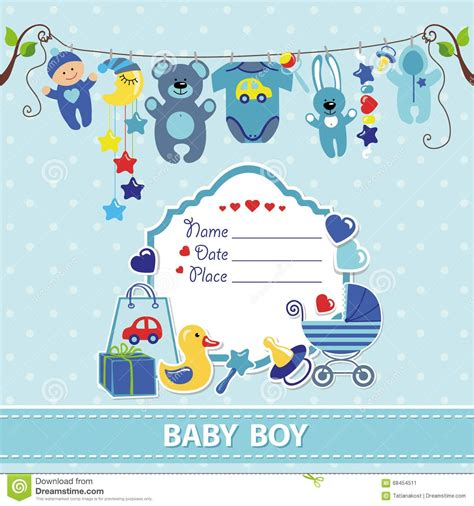 Baby Boy Card Template by Invitation Card Format For Baby Shower Choice Image