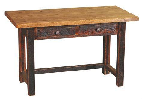 Writing Desk With Drawers by Barnwood 2 Drawers Traditional Top Writing Desk With