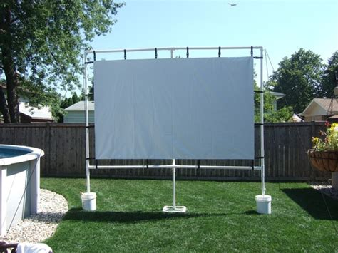 Backyard Theater Forum by Outdoor Screen Made With Gemmy Avs Forum Home Theater