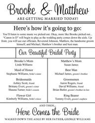 wedding programs what to call my here comes the bride wedding reception order of events template funny wedding