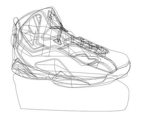 drawings of basketball shoes illustration basketball shoe vector drawing on behance