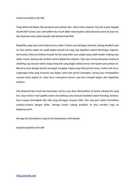 artikel format teks contoh pidato singkat perpisahan
