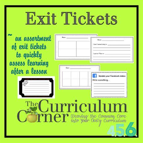 exit tickets the curriculum corner 4 5 6