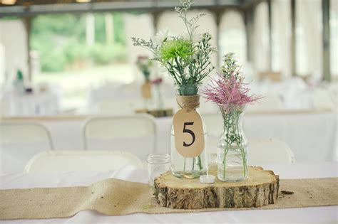 simple centerpieces for wedding rustic wedding real wedding photos simple centerpieces 1 onewed
