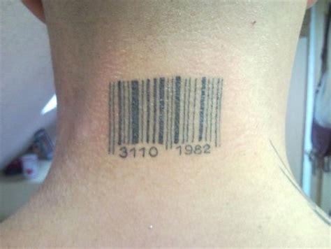 barcode tattoo vorlagen normi barcode am hals tattoos von tattoo bewertung de