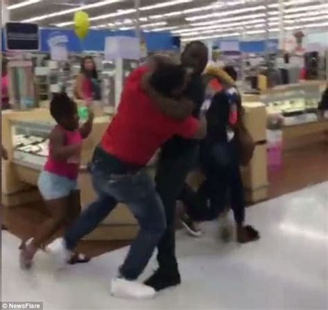 walmart jewelry section the shocking moment two couples start a huge brawl in a