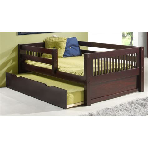 wayfair toddler bed camaflexi convertible toddler bed with trundle reviews wayfair