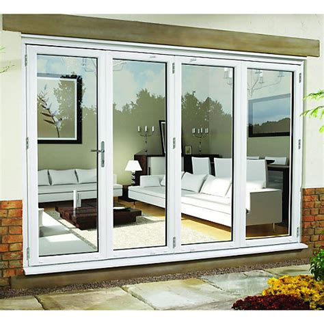 External Patio Doors Wickes Upvc External Folding Sliding Patio Door White 10ft Wide Right Opening Wickes Co Uk