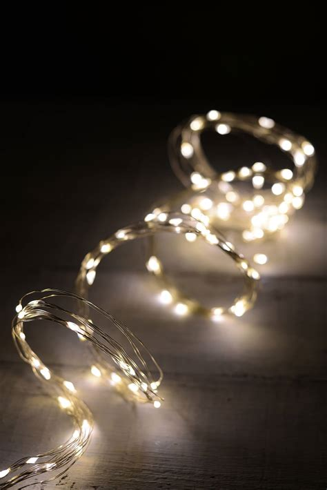LED 10 Strand Fairy Lights Warm White 120ct - 6ft-Outdoor