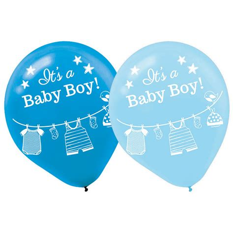 baby boy shower balloons shower with baby boy balloons 15 count