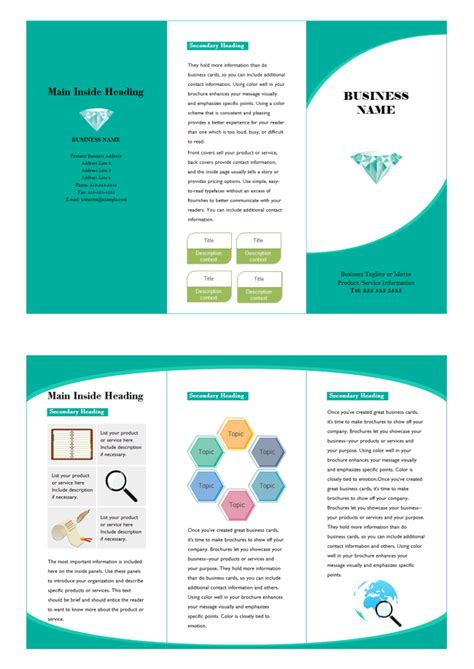 Advertising Brochure Templates Free marketing brochure free marketing brochure templates