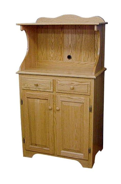oak microwave cabinet accessories