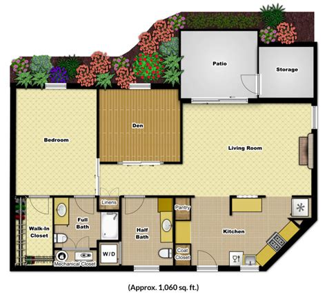 One Bedroom Apartment With Den In Nc One Bedroom Den Foulkeways At Gwynedd
