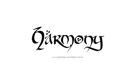 harmony tattoo harmony inspirational name designs tattoos with names