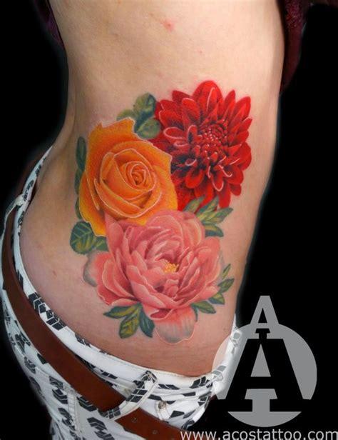 january birth flower tattoo january flower birth flowers and orange cancer ribbon on