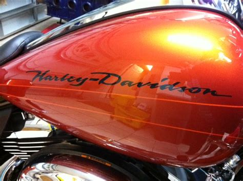 harley davidson orange paint