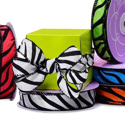 zebra pattern ribbon zebra pattern wired ribbon