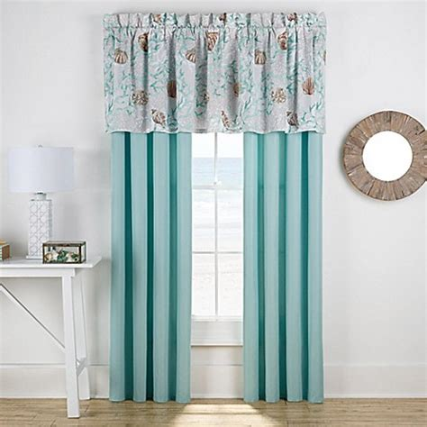 buy muriel window curtain panel pair in aqua from bed bath