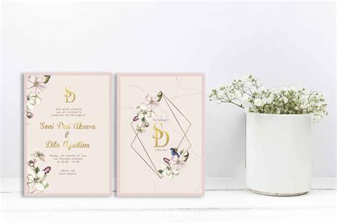 jasa cetak undangan pernikahan minimalis murah di bogor