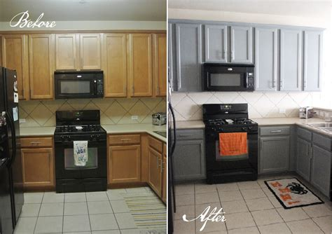 Kitchen Before And After Gusto Grace Painted Black Kitchen Cabinets Before And After