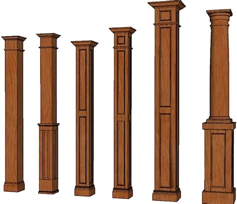square columns stain grade columns stainable columns