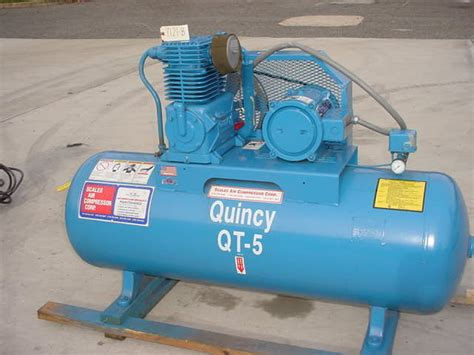 quincy 5 hp tank mounted air compressor at wohl associates