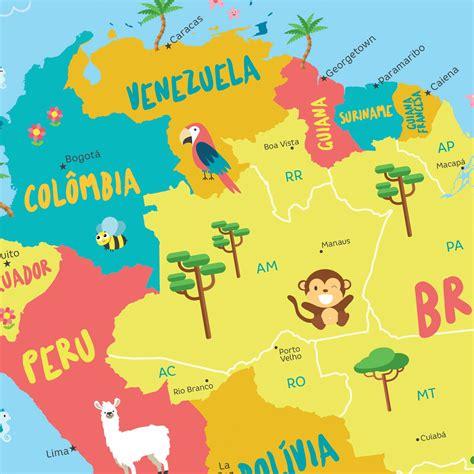 mapa a america do sul mapa infantil da am 233 rica do sul hometeka
