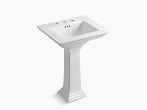 kohler memoirs pedestal sink 24 memoirs pedestal sink with stately design 8 inch centers
