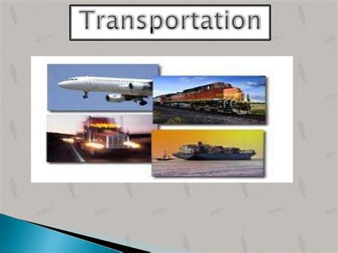 Mba In Transport And Logistics by Transportation Ppt Of Suppy Chain Management