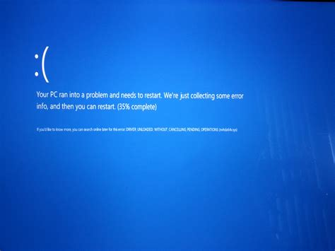 Windows Virtual Box - what does driver unloaded without cancelling pending operations mean