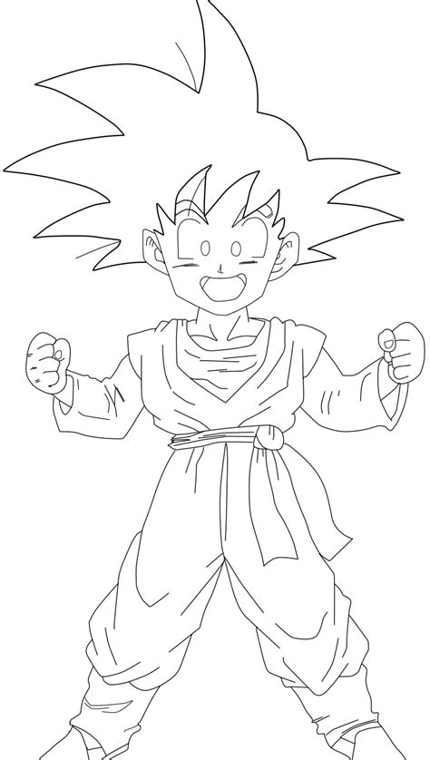 goten lineart by barbicanboy on deviantart
