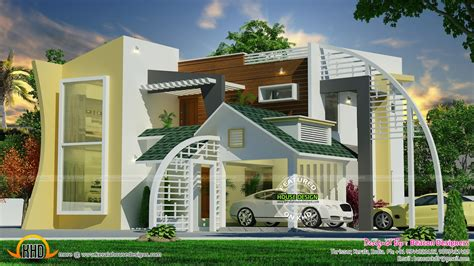 unique modern home design unique ultra modern contemporary home kerala home design