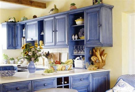 Country Kitchen Paint Ideas Kitchen Cabinet Painting Ideas Country Style Blue Color