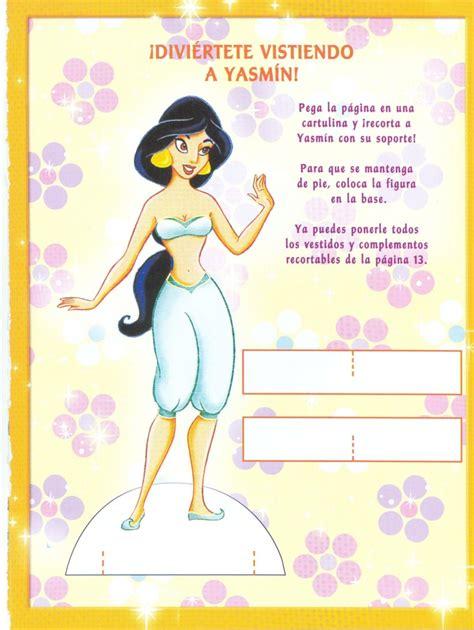 printable jasmine paper doll disney paper dolls