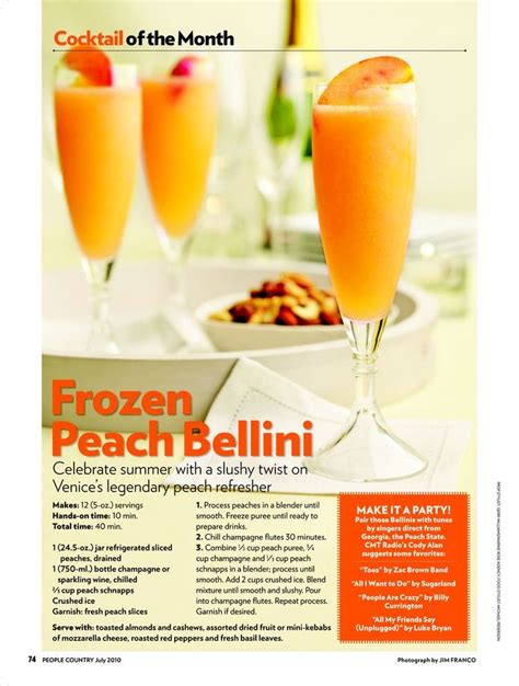 Peach Bellini Recipe Yuuummm Gluten Free Yummies