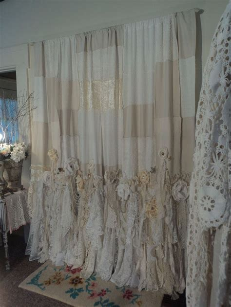 handmade vintage lace curtains 2 curtain panels 57x100