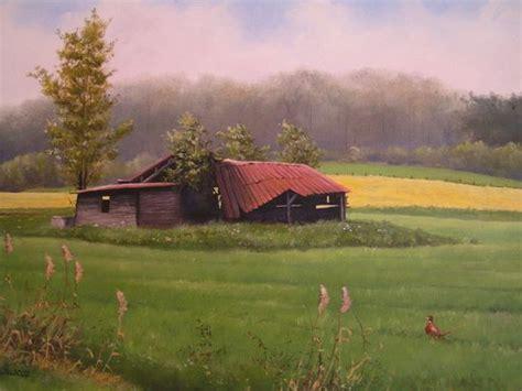 Scheune Gezeichnet by Landschaften Schwarz Wildtiermaler