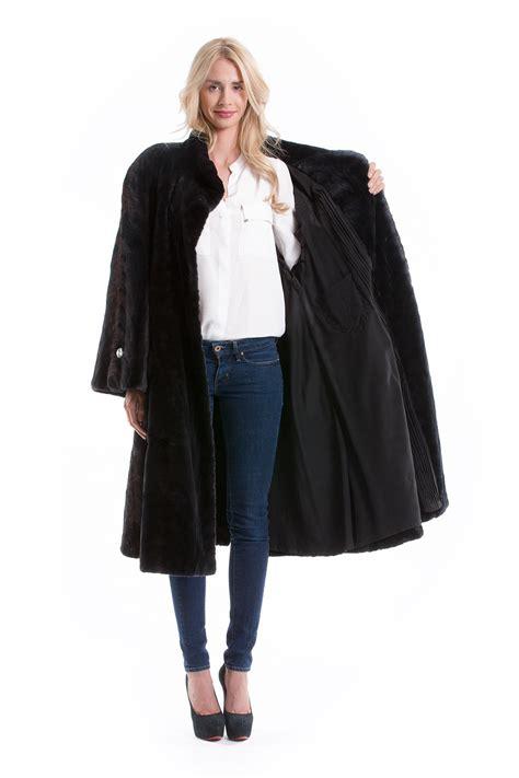 swing mantel samt nerz mantel anthrazit pelz fell luxus 2 5m