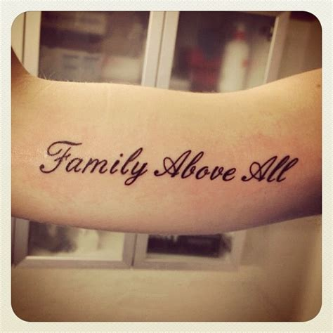 tattoo family above all family above all lettering tattoos pinterest