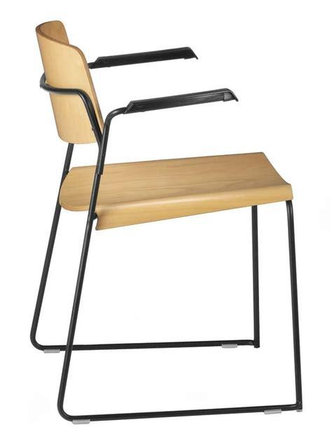 sigma sedie sedia con base a slitta seduta in multistrato con
