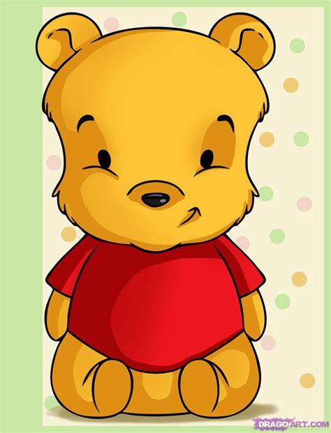 draw baby pooh step step disney characters cartoons draw cartoon characters free