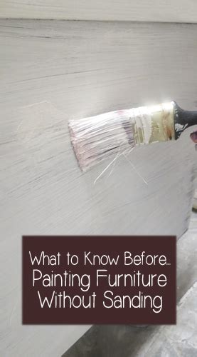 painting furniture without sanding what to know before painting furniture without sanding