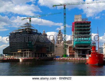 pier head construction liver building pier head and albert dock in liverpool at
