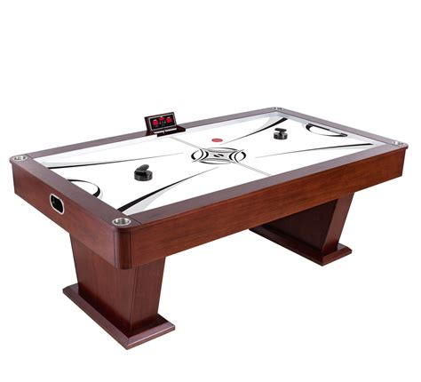 electric air hockey table monarch 7 5 ft wood air hockey table with electronic