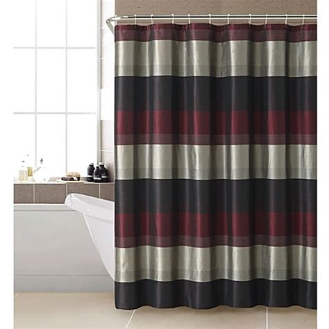 mastering the way of red bed curtains is not an accident buy hudson shower curtain in red from bed bath beyond